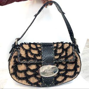 LN FENDI beaded baguette handbag